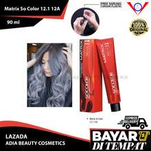 Matrix (tanpa peroxide) Cat Rambut Socolor 12.1 Light Cool Blonde 90ml free sarung tangan / cat rambut abu abu grey / pewarna rambut yang bagus / semir rambut abu abu / pewarna rambut permanen / chat rambut / cat rambut korea / semir rambut / warna rambut