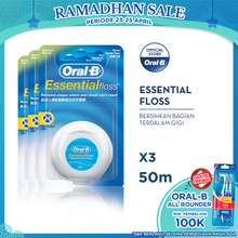 Oral-B Benang Gigi Essential Floss 50 M - Paket isi 3