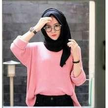 Sweater Rajut Boxy Premium Jumbo Wanita - Dusty Pink (Int: One size)