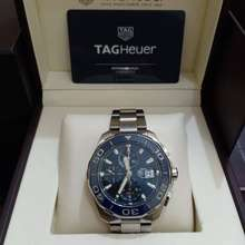 Tag Heuer Aquaracer Blue Ceramic Bezel Cal 16 Chrono Cay211B.Ba0927 Original