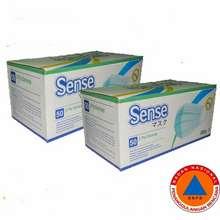 sense Masker Earloop 3Ply Disposable Facemask 1 Box Isi 50 Pcs
