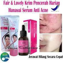 Fair & Lovely Paket Fair & Lovely Krim Pencerah Harian plus Serum Vit-C Hanasui Anti Acne Original BPOM