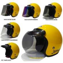 Jpn helm bogo kuning glossy helm retro arc original dewasa kuning gloosy