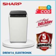 Sharp Mesin Cuci 1 Tabung Sharp ESG-876 P-GY 7KG. Low Watt