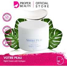 Votre Peau Night Cream With Collagen Indonesia / Skin Care Argan Oil / Cleanser Toner Serum Essence