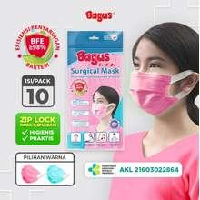 Bagus Masker Sehari Hari 1 Pack Isi 10 Pcs Pink