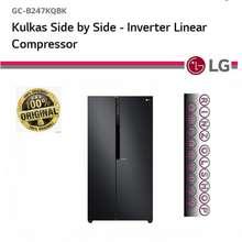 LG KULKAS LG GC-B247KQBK SIDE BY SIDE LINEAR COOLING INVERTER