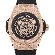 Hublot Big Bang Sang Bleu Automatic Diamond Black Dial Ladies Watch 465.OS.1118.VR.1704.MXM18