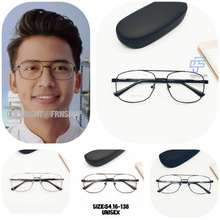 Frame Kacamata Minus Besi Aviator Kotak Lensa Antiradiasi Uv Murah Kacamata Aviator Pria Wanita