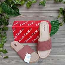 Calbi /Sandal Wanita Terbaru/Sandal Flat/ Sandal Teplek (Marun, EU:40)