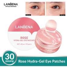 Lanbena Bpom Rose Hydra Gel Eye Mask Patches Menyegarkan 60 Pcs