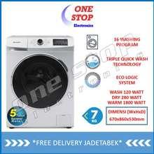 Sharp Es-Fl1073W Mesin Cuci Front Loading Triple Quick Wash 7 Kg
