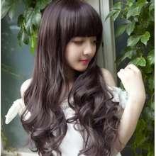 Model Wig Wanita Model Gelombang Curly Berponi - LIGHT