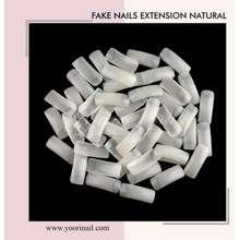 Clear Extension Fake Nails Pack 500Pcs Bening Half Nail Tip Kupal Natural