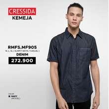 Cressida Kemeja Cowok Slimfit Casual Original - RMFS.MF905 Denim