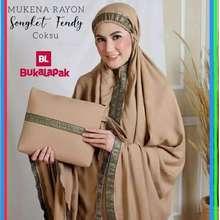 mukena Muslimah Wanita Syari Dewasa Adem Sale H Rayon Songket Cewek Muslim Gaun Dress Baju Shalat Bali Katun Jumbo Jepang