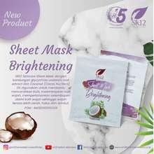 SR12 Sheet Mask Brightening / Mencerahkan / Melembabkan & Menutrisi Kullit Sheet Mask Herbal BPOM