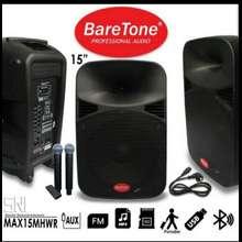 BARETONE SPEAKER PORTABLE MAX15HHWR ORIGINAL