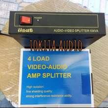 AMP Spliter Av 4 Load 3 Rca 1 Input 4 Output Usat Splitter Video Audio