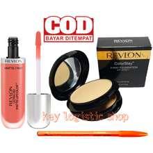 Revlon Paket Makeup Bedak - Lipcream - Pensil Alis Viva