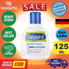 Cetaphil CETAPHIL OILY SKIN CLEANSER PEMBERSIH WAJAH KULIT BERMINYAK KERING MEMBERSIHKAN WAJAH LEMBUT 125 ML