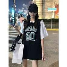 ASK Baju Oversize Wanita Lengan Pendek Desain Baju Bet, Tshirt Longgar Style Korea Terbaru