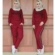 Moshi Stelan Olahraga MOSHI LOVE, Stelan Training Wanita Muslim - Maron, XL