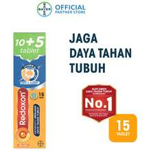 Redoxon Vitamin C, D & Zinc Rasa Jeruk 10+5 Tablet