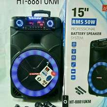 Asatron speaker meeting 15 inch ht 8881 2 mic wireless