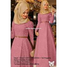 Ladies Fashion Gamis Remaja Polos Murah / Dress Pesta Gamis Model Baru / Gamis Modern Gaun Gamis Baloteli Wolfis / Dress Cewek Muslimah / Hijab Muslim / Muslim Syari Hijab Syari / Busana Muslim / Atasan Gamis Murah / Terusan Gamis / Baju Hijab (Mirahza) SS - DUSTI PINK (Int: One size, …)