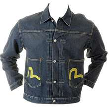 EVISU washed denim early original genuine rare ES04MJK05 F12 two pocket jacket EVIS2341