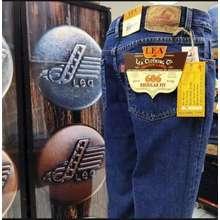 LEA celana lea jeans original pria standar warna biru dan hitam size 28-38 - Biru, 30