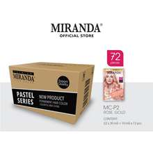 Miranda Hair Color (Cat Rambut Permanen) Pastel Series Mcp2 Rose Gold 30Ml (Paket 72 Pcs)