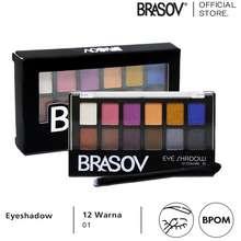 Brasov Eye Shadow Palette 12 Colors 01 Shimmer Matte Bpom Xx Ct