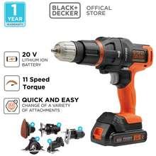 black decker Black + Decker Bor Hammer Drill Multifungsi Multi Evo 6 Heads Kit