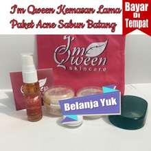 Im Qween Skincare [ COD ] IM IM QWEEN PAKET ACNE JERAWAT Sabun Batang kemasan lama / Day Cream / Night cream / Sabun Batang / Anti Iritasi / Serum Acne