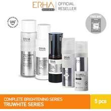 Erha Paket Pemutih Wajah Truwhite Activator & Brightening - 5 Pcs Perawatan Wajah Lengkap / Bpom