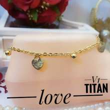 Titanium Perhiasan Gelang Kaki 24K#0861