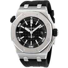 Audemars Piguet Royal Oak Offshore Diver Black Dial Black Rubber Mens Watch 15710STOOA002CA01
