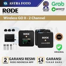 Rode Wireless Go Ii 2 Channel Wireless Microphone, Mic Kamera Hp