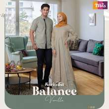 Nibra's Nibras Sarimbit Fayes Cappuccino  Siap Kirim  Baju Muslim Keluarga