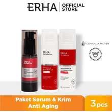 erha Bundling Age Corrector Daily Serum & Anti Aging Cream - Paket Anti Aging