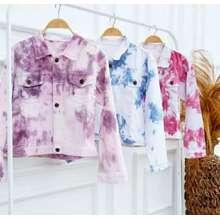 Batik Kidiw JAKET JEANS WANITA / JAKET LEVIS WANITA / JAKET OVERSIZE / JAKET JEANS WANITA TIE DYE Bahan Jeans / Jaket Jeans Wanita Korean Style / Jaket Wanita Model Terbaru 2020 Murah Meriah / Fashion Wanita OOTD Kekinian / Baju Wanita Terbaru 2020 (Int: One size, Ungu)