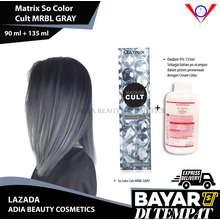 Matrix Cat rambut Socolor Cult MRBL GRAY + oxidant 135ml (pure grey) / cat rambut korea / cat rambut abu abu grey / pewarna rambut yang bagus / pewarna rambut / semir rambut yang bagus / semir rambut / cat rambut permanen / pewarna rambut permanen