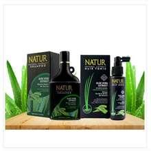 Natur Paket Perawatan Rambut Aloe Vera Shampoo 270Ml Dan Tonik