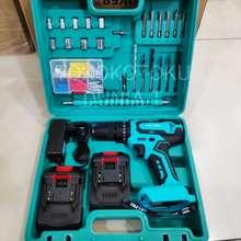 NRT - PRO Nrt-Pro Mesin Bor Baterai Cordless Drill Nrt Pro Dc-340 Set 10Mm 20V