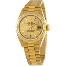 Rolex Pre owned Datejust Automatic Champagne Dial Ladies Watch 69178CSP