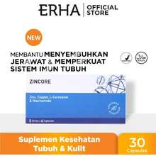 erha Zincore 30Caps - Suplemen Kulit Jerawat