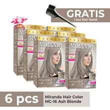Miranda Paket Ash Blonde Isi 6 / Ash blonde / Abu abu isi 6 / Semir Rambut Ash Blonde 30ml