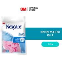 Nexcare 3M Busa Spons Mandi 2 Pcs Double Shower Puff Jaring 3D Ns 02